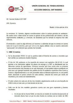 REDACCIÓN SINDICAL MADRID: Valoraciones de EMT UGT Madrid sobre la compra pre...
