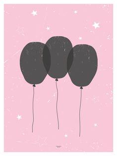 Balloon poster from wendelborgdesign.no