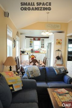Small Space Organizing -- 750 sq ft house for 5 {plus animals}. See how they do it!
