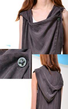 Courage Tencel vest with hood P3101 par idea2lifestyle sur Etsy
