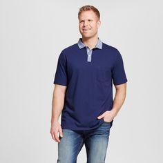 Men's Big & Tall Club Polo Shirt Blue 3XB Tall - Merona