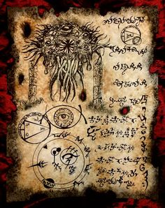 THING on the THRESHOLD Necronomicon Fragment larp Lovecraft monster cthulhu