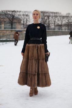 Ulyana Sergeenko - paris haute couture street style