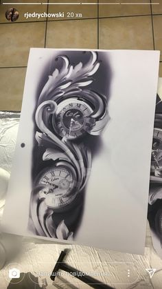 Forearm Tattoos, Body Art Tattoos, Sleeve Tattoos, Cool Tattoos, Clock Tattoo Design, Tattoo Designs, Tattoo Sketches, Tattoo Drawings, Time Piece Tattoo