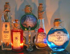 Magick potions - i will be offering potion labels like this on Etsy under The Herbal Greenhouse & my website very soon! Place your advanced order today!!! www.theherbalgreenhouse.com