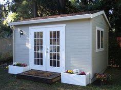 50 Popular DIY Backyard Studio Shed Remodel Design & Decor Ideas - Page 25 of 56 Backyard Office, Backyard Studio, Backyard Retreat, Garden Studio, Pool Shed, Backyard Sheds, Backyard Patio, Studio Shed, Studio Build