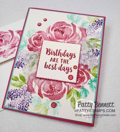 Beautiful Friendship Floral Card Idea Stampin' UP! The Beautiful Friendship stamp set from Stampin' UP! is gorgeous and one of my favorites! I love that you can create a lovely stamped bouquet of flowers with all of the pretty images! I created Friendship Flowers, Friendship Cards, Stampin Up Karten, Scrapbooking, Scrapbook Cards, Stampin Up Christmas, Stamping Up Cards, Flower Cards, Beautiful Day