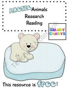 Arctic Animals Research Reading product from Smart-Charts on TeachersNotebook.com
