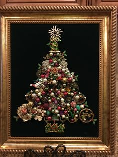 11x14 christmas tree old and new jewelry. By Beth Turchi 2016.
