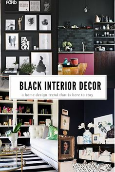 Think you can't decorate predominately with black because it's too macabre of a color? These stunning black home decor ideas will change your mind!