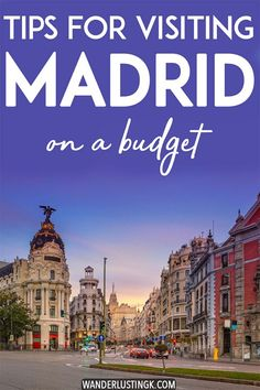 Madrid on a Budget: Insider tips for cheap things to do in Madrid Visiting Madrid? Insider tips for visiting Madrid on a budget, including cheap things to do in Madrid, the best things to eat in Madrid on a budget, and where to stay in Madrid on a budget! Travel Europe Cheap, Spain Travel, Budget Travel, Travel Tips, Travel Destinations, Travel Packing, Europe Packing, Backpacking Europe, Packing Tips