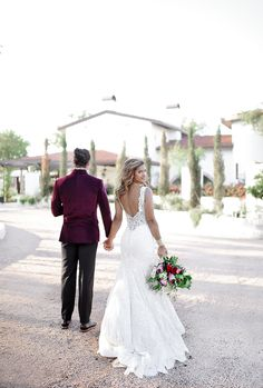This backless lace wedding dress is perfect for a luxe Spanish Villa Shoot   Allure Bridals