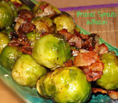 FoodThoughtsOfaChefWannabe: Brussel Sprouts with Bacon