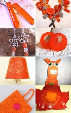 """Etsy Maine Team Cash Mob - NOVEMBER 8 - This intense orange treasury includes Oberleigh Images' """"Optimistic Orange"""" photo set!  Search """"maineteam"""" for more great Maine-made gifts!"""