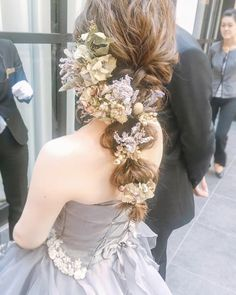 花嫁の結婚準備アプリ♡-Wedding News- – From Parts Unknown Dress Hairstyles, Winter Hairstyles, Cute Hairstyles, Wedding Hairstyles, Hairdo Wedding, Wedding Hair Pins, Wedding Images, Wedding Styles, Fairy Hair