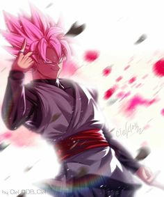 Goku Black - Super Saiyajin Rosé Black Goku, Goku Black Super Saiyan, Dragon Ball Gt, Zamasu Fusion, Zamasu Black, Epic Characters, Dragon Images, Fanart, Neko