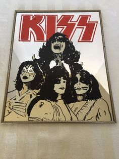 KISS Mirror Wall Hanging Rock Band Gene Simmons 8x10 inches