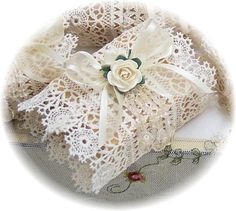 Victorian Lace Soap hand-crafted Signature Soaps are wonderfully presented in our signature textiles and embellishments to make a fabulous display in your powder room! What is exciting is that when you are ready to use the soaps, our fancy packaging can be easily slid off without disturbing the designs for reuse!  http://www.millanisantiquecottage.com
