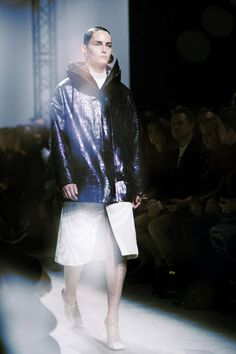 Metallic python coat at Acne Studios AW14 PFW. More images here: http://www.dazeddigital.com/fashion/article/19079/1/acne-aw14