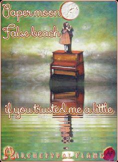 Archetypal Flame - The moon from Paper  The moon from Paper  the beach False  if you trusted me a little  everything would be real  ....  Χάρτινο το φεγγαράκι,  ψεύτικη ακρογιαλιά,  αν με πίστευες λιγάκι  θα `σαν όλα αληθινά.  .............  la luna de papel  La playa falsa  si usted me confiara  en un poco todo sería genuina  #archetypal, #flame, #xartino, #feggaraki,#papermoon #luna, #papel,#lune, #beauty, #health, #inspiration, #gif