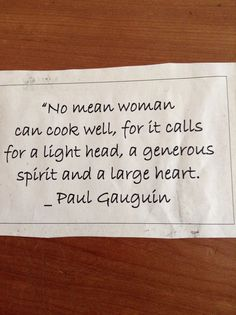 I always try to remember this. Let's not get too hung up and serious about cooking.   Cook simply, live well.   www.learntocook.com.au