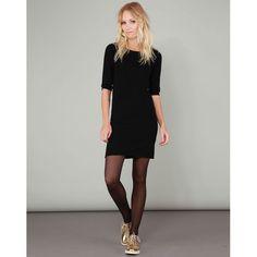 Robe en laine mélangée Les Petites, cliquez sur l'image pour shopper #bazarchic #robe #dress #lespetites #petites #black #noir #fashion #mode