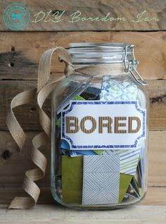 Spark creativity with a DIY Boredom Jar.