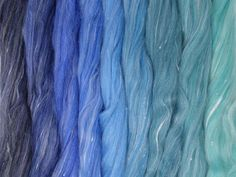 Forest Floor Gradient Pack of blended wool tops. This gradient has been created to make a seamless transition from one colour to the next. Seamless Transition, One Color, Spinning, Fiber, Packing, Corning Glass, Hand Spinning, Bag Packaging, Indoor Cycling