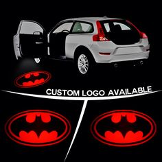 Batman puddle lights, it glows on the ground when u open the door... How sweet is that?