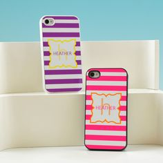Modern Stripes Personalized iPhone Case