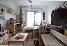 Small room design – Home Decor Interior Designs Home Room Design, Small Room Design, Small Room Layouts, Japanese Apartment, Tiny Studio Apartments, Small Room Decor, Decoration Originale, Apartment Layout, Studio Room