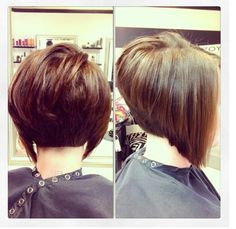 a-line cut. I need my hair angled more severely like this. I'll have to do it next cut.