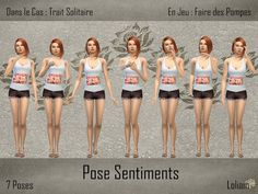 Sims 4 Set de poses Sentiments