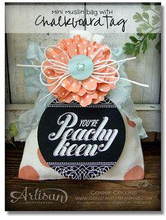 Fun way to decorate the Mini Muslin Bags.