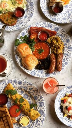 A breakfast spread from Dishoom (London)
