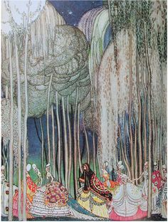 Twelve Dancing Princess by Kay Nielsen - I remember reading this at the book store as a child. My mom did not buy it for me, but the images still remained in my head until I saw this post.  Now I know I did not imagine it!