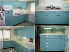 Ordinaire Old Metal Cabinets For Sale | Aqua GE Metal Kitchen Cabinets For Sale On  The Forum U2013 Michigan
