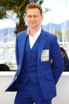Tom Hiddleston. In a TARDIS suit.