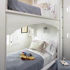 """Check out the """"Crew"""" - great nautical bedroom!"""