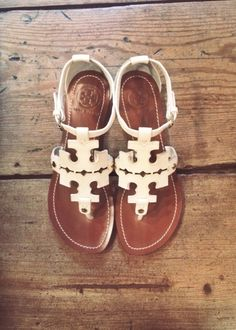 tory burch logo sandals. these are the BEST!