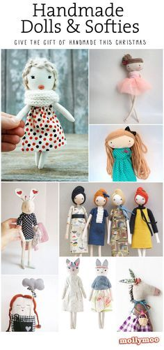 Thinking of giving the gift of handmade this Christmas? ..... here's 17 of my favourite softies and dolls to whet your appetite xx
