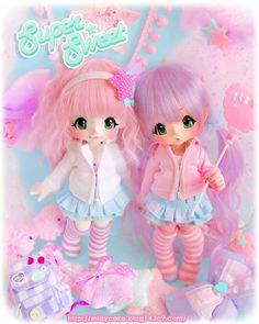 pink dolls #dolls