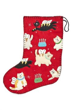 New World Arts Angel Cat Christmas Stocking available at #Nordstrom