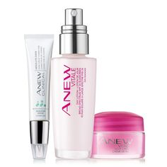 Need an expert? A $70 value, the collection includes: • Anew Clinical Absolute Even Dark Circle Corrector - dark circles virtually appear to vanish. 0.5 oz. net wt. a $30 value• Anew Vitale Day Lotion Broad Spectrum SPF 25 - want poreless perfection? Shrinks the look of pores. 1.7 fl. oz. a $28 value • Anew Vitale Night Cream Try-It Size - Beauty sleep in a jar. 0.5 oz. net wt. a $12 value