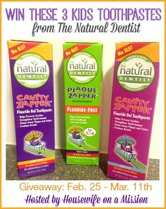 IHeart-Motherhood: Kids Toothpastes from The Natural Dentist Review and Giveaway
