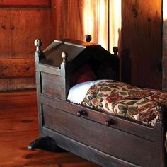 1684: First period saltbox in Massachusetts. The English oak cradle is 17th century. http://www.oldhouseonline.com/first-period-saltbox-in-massachusetts/