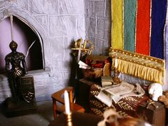 The Great Hall Norman Castle, Dollhouse Miniatures, Furniture, Home Decor, Decoration Home, Room Decor, Doll House Miniatures, Home Furnishings, Arredamento