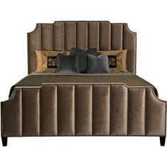 Upholstered Bed | Bernhardt ❤ liked on Polyvore featuring home, furniture, beds, bernhardt furniture, fabric bed, upholstered furniture, bernhardt and upholstery furniture