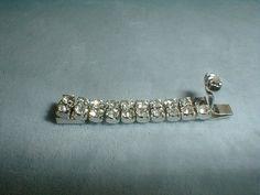 vintage silver plated rhinestones 11/2 by fadedglitter42263, $20.00