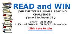 Get friendly with the Brampton Public Library! Education Information, Teen Summer, Reading Challenge, Ontario, Public, Canada